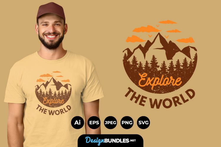 Explore The World for T-Shirt Design example image 1