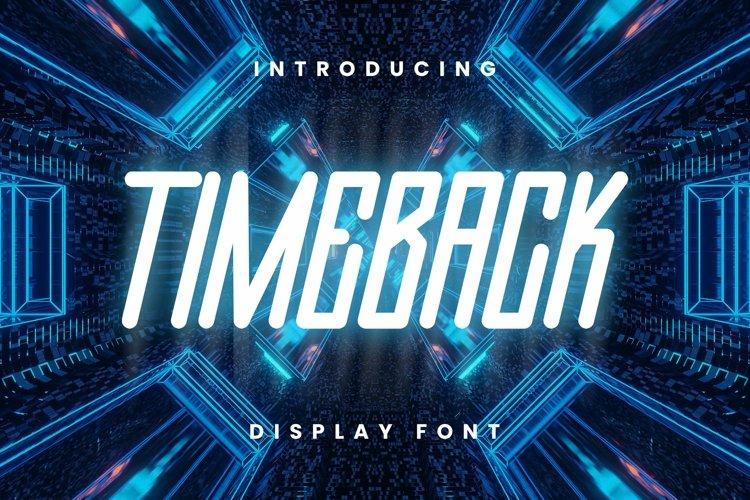 Web Font Timeback Font example image 1