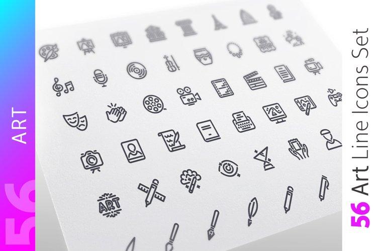 Art Line Icons Set example image 1