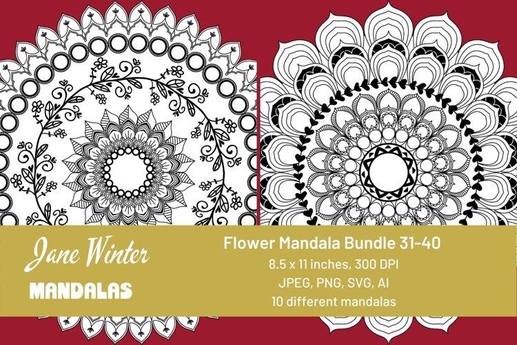 Flower Mandala Bundle 31-40