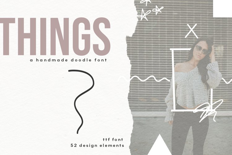 Things - A Doodle Design Font example image 1