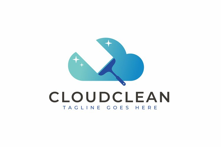 Cloud Cleaning Logo Design example image 1