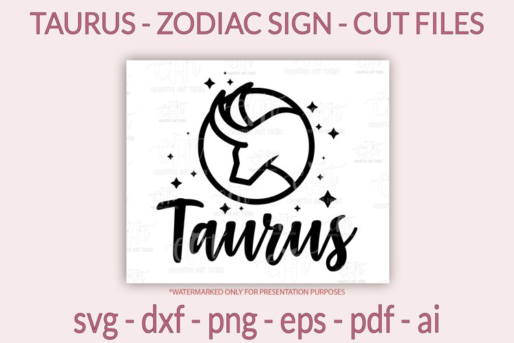 Taurus SVG - Zodiac sign SVG - Horoscope SVG, PNG, cut files