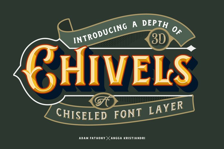 Chivels - Chiseled Vintage Fonts example image 1