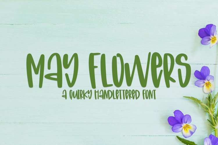 Web Font May Flowers- A Quirky Hand-Lettered Font example image 1