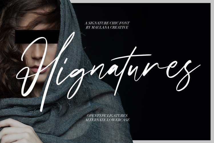 Hignatures Signature Brush Font example image 1