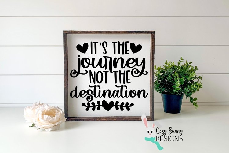 It's the Journey Not the Destination SVG - Inspirational SVG example image 1