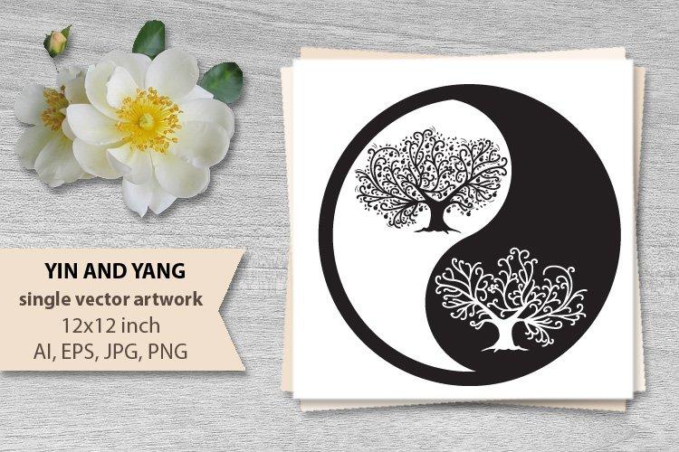yin yang - vector example image 1