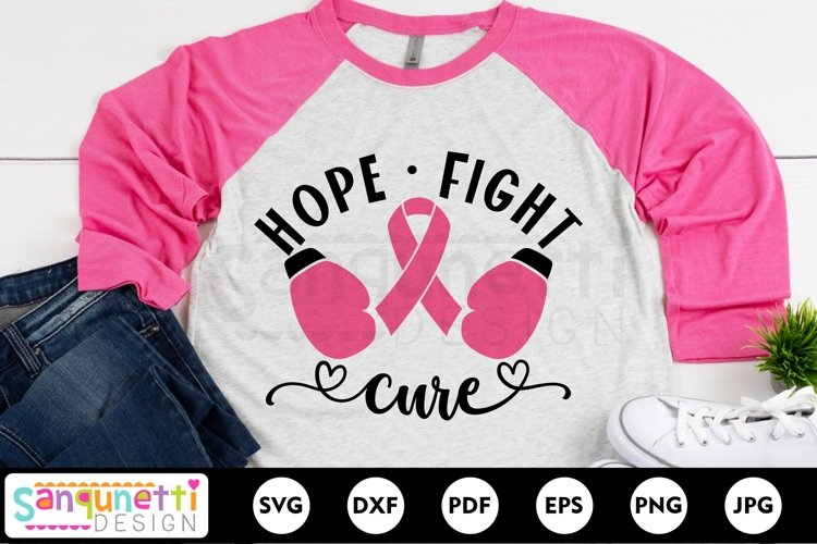 Hope Fight Cure SVG, breast cancer svg