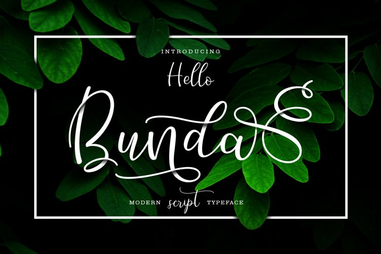 Hello Bunda Typeface example image 1