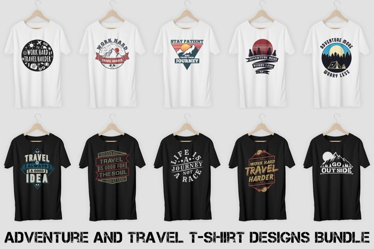 Adventure and Travel T-Shirt Designs Bundle Vol. 1 example image 1