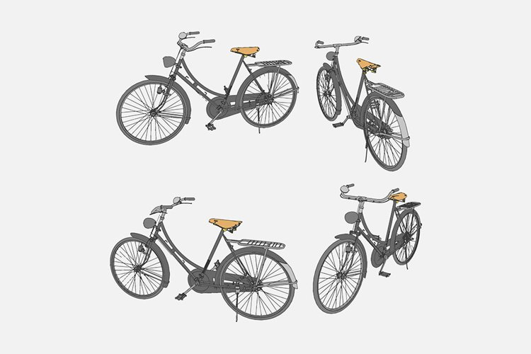 illustration of an ancient bicycle