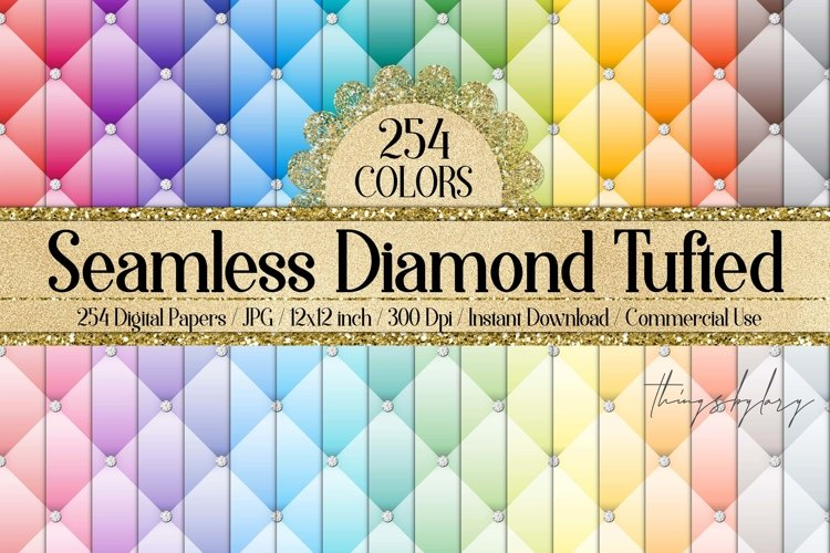 254 Seamless Diamond Upholstery Tufted Quilt Leather Papers example image 1