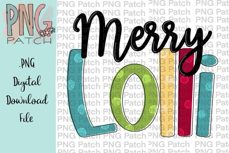 Merry Lolli Grandmother Christmas Sublimation Design example image 1