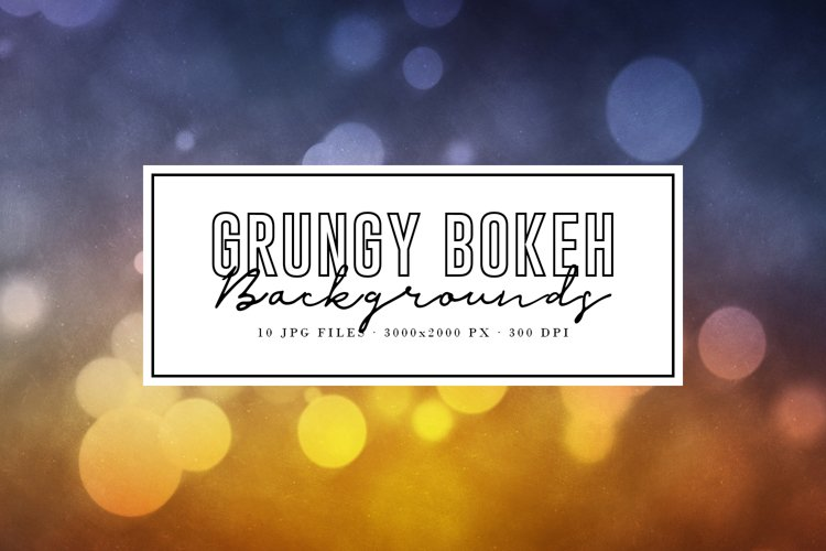 Grungy Bokeh Backgrounds example image 1