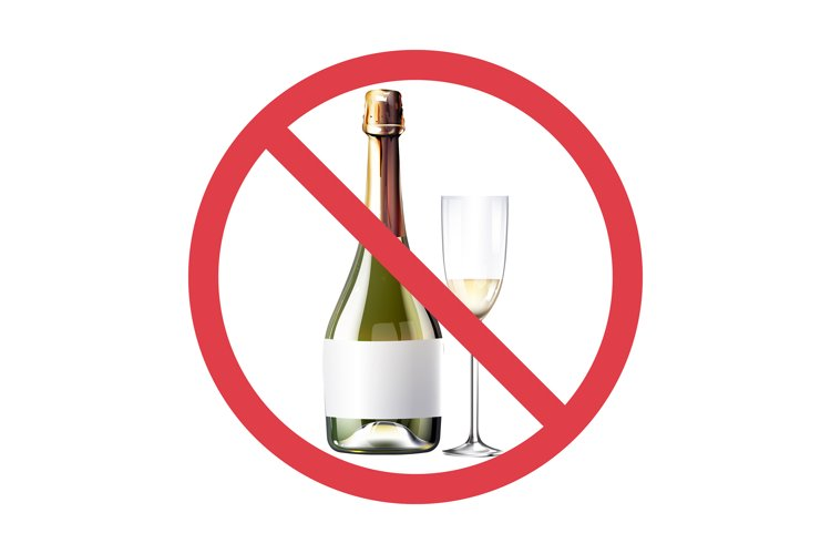 No wine realistic product vector design example image 1