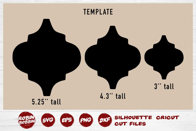 Arabesque Tile Christmas Template Bundle - SVG DXF PNG