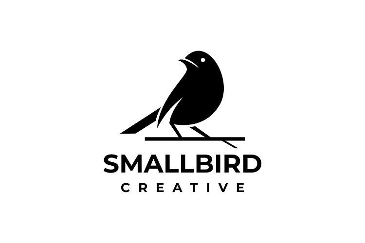 Silhouette Elegant Bird Logo Template example image 1