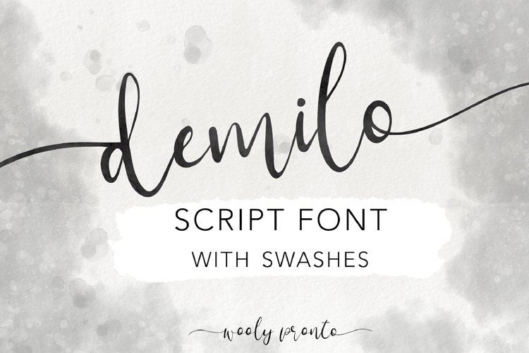 Demilo Handwritten Modern Brush Script Font with Swashes