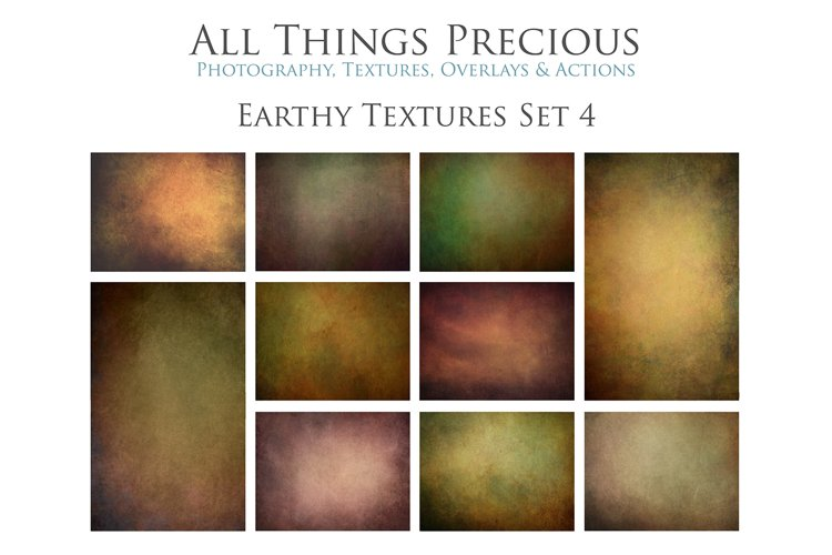 10 Fine Art Earthy Textures SET 4 example image 1
