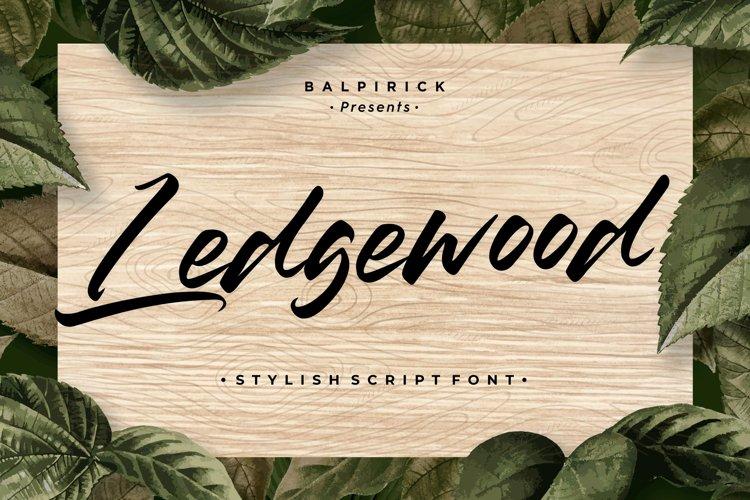 Ledgewood Stylish Script Font example image 1