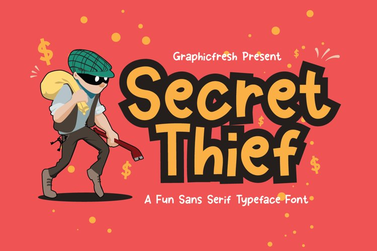 Secret Thief - A Cute Sans Font example image 1