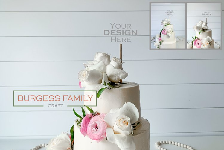 Mockup Cake Toppers Wood Stick topper   JPEG example image 1