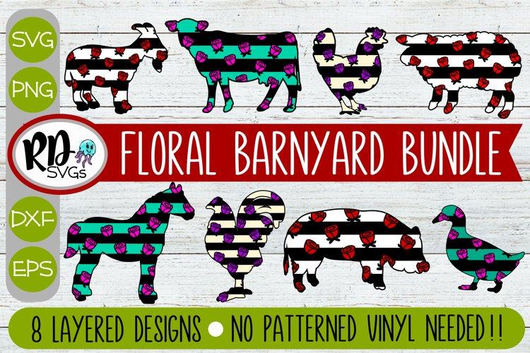 Floral Barnyard Bundle - A Set of Layered Rose Cricut Svg