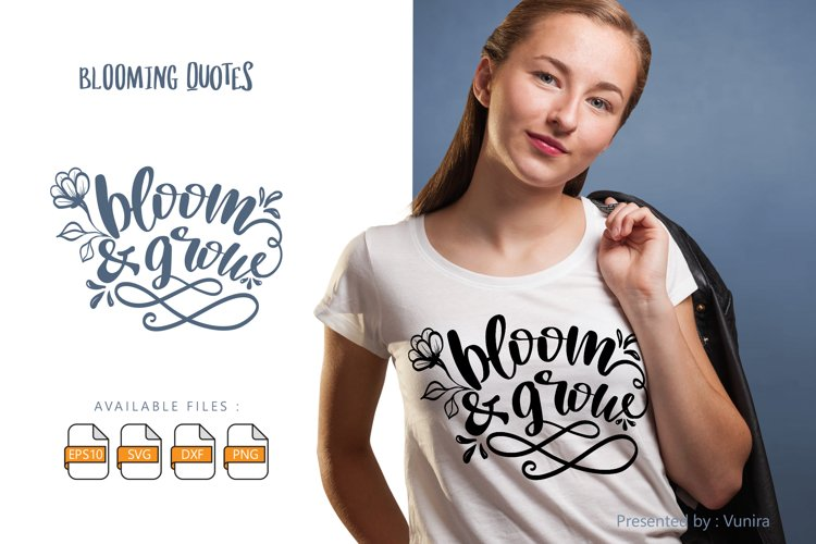 Bloom & Grow | Lettering Quotes example image 1