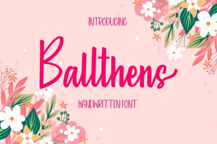 Ballthens - Handwritten Font example image 1