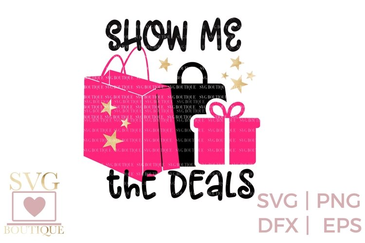 Black Friday SVG PNG DFX - Deal Queen - Crafting File example image 1