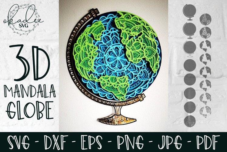 Download 3d Mandala Globe Layered Earth Svg Homeschool Decor Dxf 876508 Paper Cutting Design Bundles