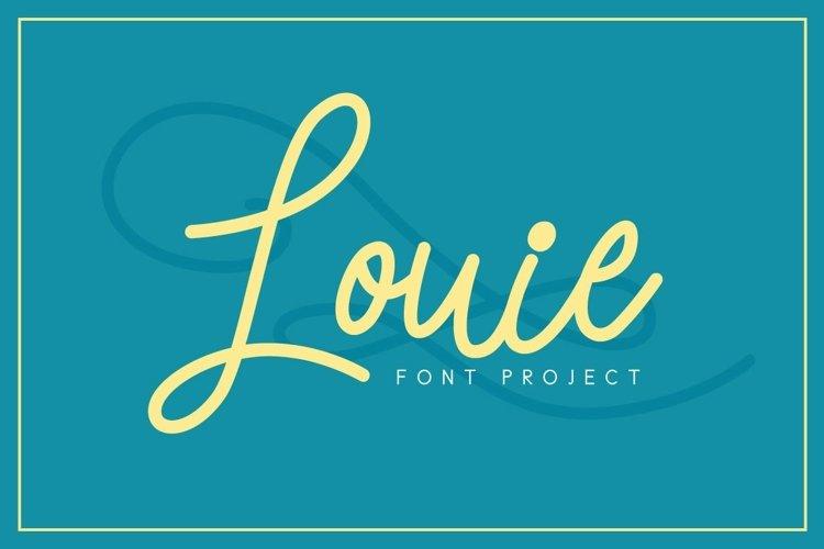 Web Font Louie Font example image 1