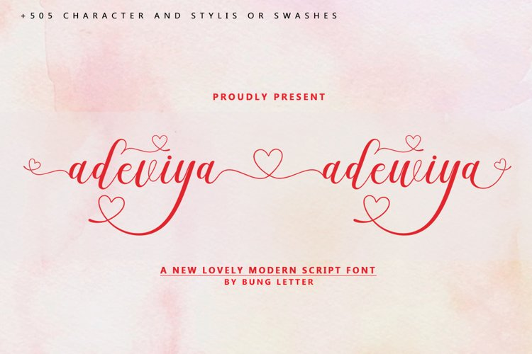 Adeviya adewiya - Lovely Modern script example image 1