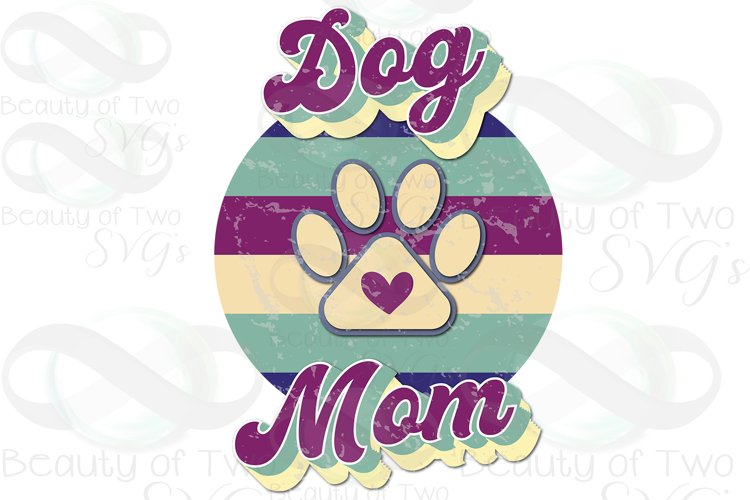 Dog Mom Vintage png Grunge Retro Distressed Sublimation png example image 1