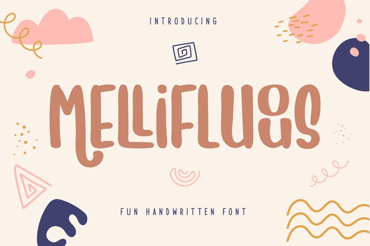 Mellifluous | Fun Handwritten Font example image 1