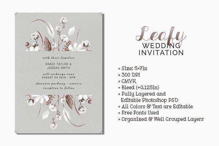 Leafy Wedding Invitation example image 1