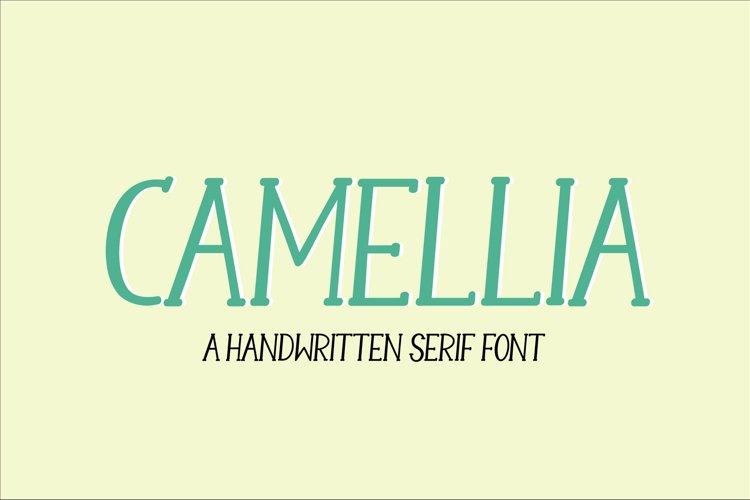 Camellia - a handwritten serif font example image 1