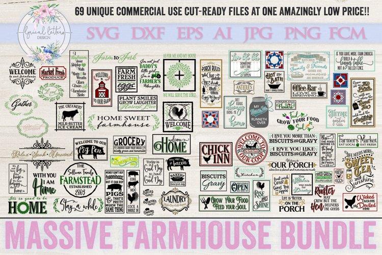 Farmhouse Bundle of 69 SVG DXF Cut Files example image 1