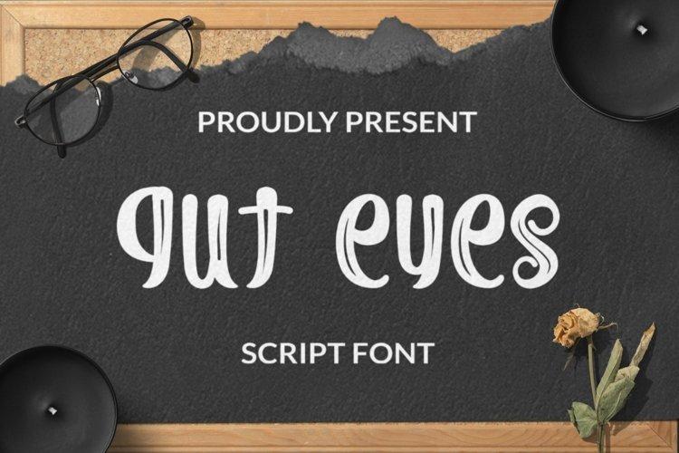 Web Font Gut Eyes Script example image 1