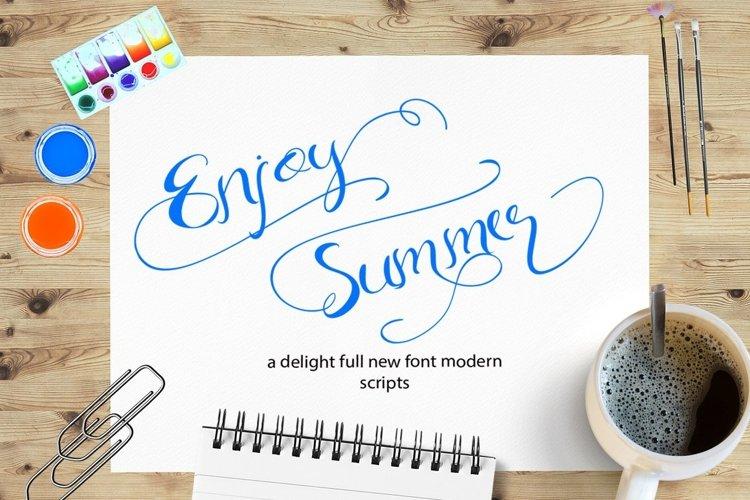 Web Font Enjoy Summer example image 1