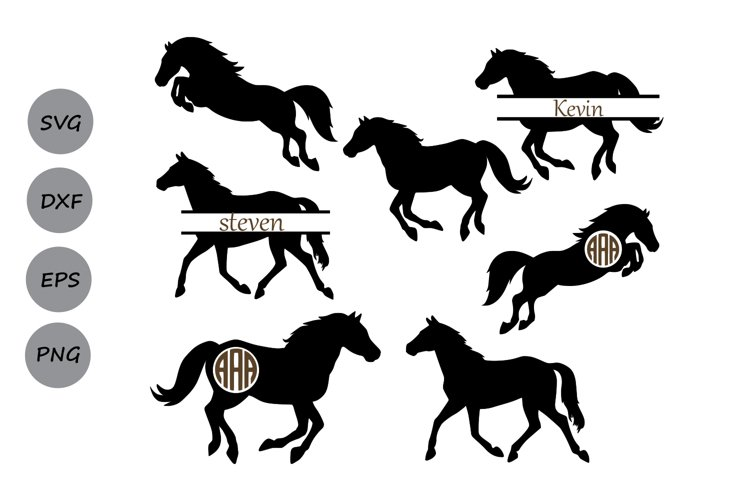 Horse svg files, Horse Monogram, Horse clipart, Horses Svg.