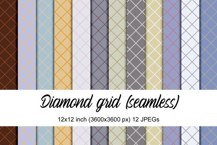 Seamless Diamond Grid Patterns
