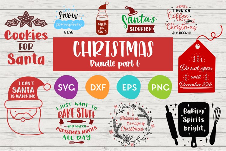 Christmas Bundle | Part 6 | Cut files for silhouette