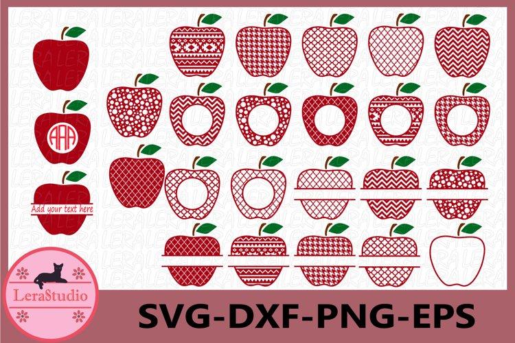 Apple SVG, Monogram Apple SVG Frames, Apple Monogram Frame
