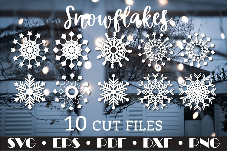 Snowflake SVG,10 cliparts example image 1