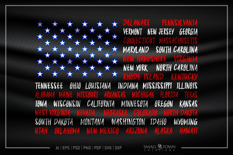 American Flag, USA, Old Glory, States,PRINT, CUT & DESIGN