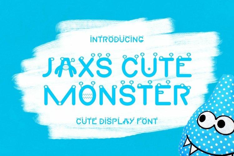 Web Font Jaxs Cute Monster Font example image 1