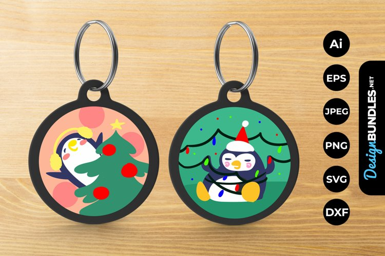 Cute Penguin Keychain example image 1