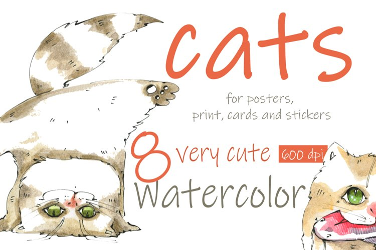 Cats for posters, print, stickers